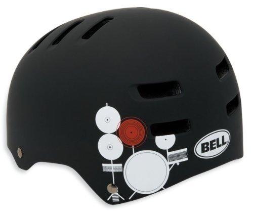 Bell Fahrradhelm Faction, matte black/white paul frank drums, 54-59 cm, 210027077 by Bell