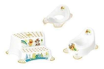 3 set attaccamento z winnie the pooh bianco wc bambini pentola