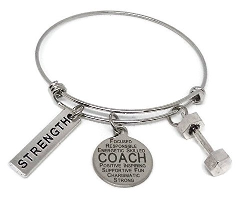Coach Stainless Steel Charm Bracelet, Beachbody Coach Fitness Coach Silverinestore