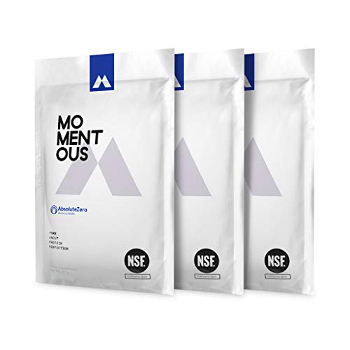 AbsoluteZero Grass-Fed Whey Protein Isolate, Gluten-Free, NSF Certified, All Day Essential Use Protein Powder Men and Women-Live Momentous (Vanilla)
