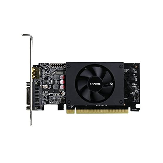Gigabyte GeForce GT 710 2GB Graphic Cards and Support PCI Express 2.0 X8 Bus Interface. Graphic Cards GV-N710D5-2GL 41V29FeYc%2BL. SS555