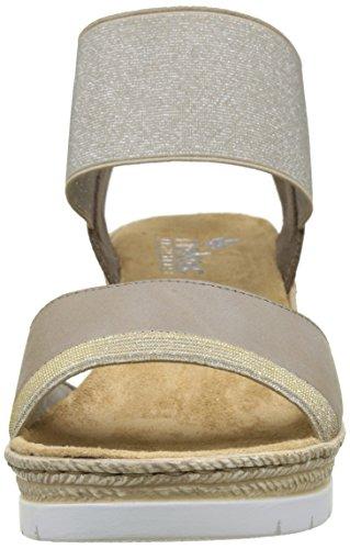 Femme silver 61948 Lightgold Whitekiesel Rieker 90 Bout Beige Ouvert Fango FIqnf