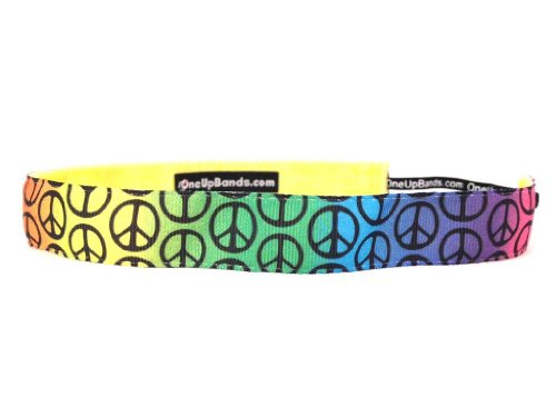 One Up Bands Women's Peace Signs Rainbow One