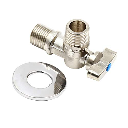 Firecolor Angle Gas Ball Valve Brass Connector with Pipe Inlet Lever Handle Water Heater Service Valve,2#