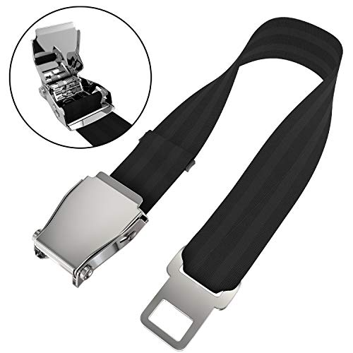 (Adjustable Airplane Seat belt Extender- Fits Most Airlines- E4 Safety Certified)