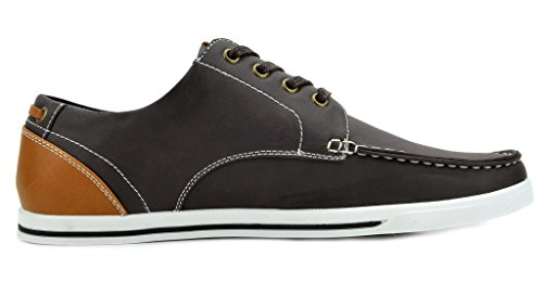 Pu Dark Marc MARC Sneakers NEW Shoes Brown Mens Bruno Rivera Oxfords YORK BRUNO vfqw7IRv