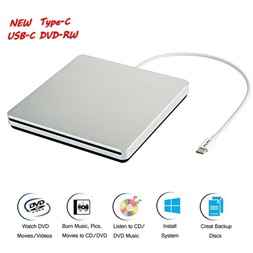 VikTck USB-C Superdrive External DVD/CD-RW Burner Writer Player for MacBook Air/Pro/iMac/ASUS/DELL Laptop Notebook PC Desktop Computer,High Speed Data Transfer Support Windows XP/Vista/7/8/2000,Mac by VikTck (Image #7)