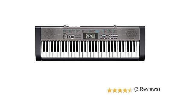 Casio CTK-1300 - Teclado estándar con 61 teclas (12 polifonía, 100 tonos y 100 ritmos), color negro: Amazon.es: Instrumentos musicales