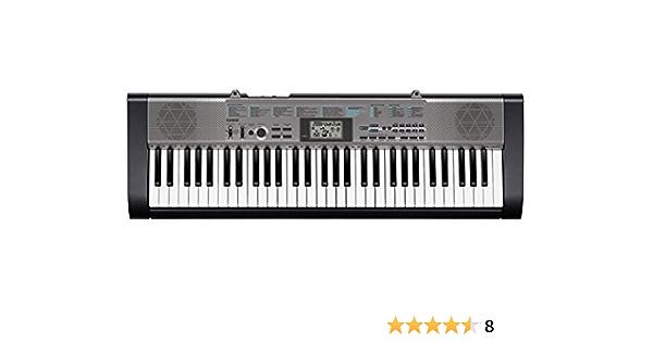 Casio CTK-1300 - Teclado estándar con 61 teclas (12 polifonía, 100 tonos y 100 ritmos), color negro