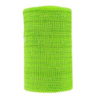 Deco Mesh Ribbon Metallic Striped Spool - Lime Green by Robert Stanley