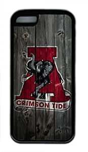 fenglinlinAlabama Crimson Tide Alternate Logo ipod touch 5 Black Sides Rubber Shell Case by eeMuse