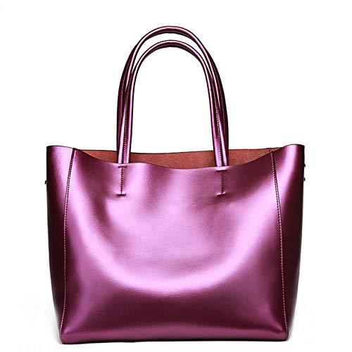 Sac Bandoulière Capacité Dames Sauvage Grande à Sac Mode PU Main Purple Main à Simple Sac Sac Décontracté à Shopping zxO7YO