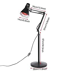 Infrared Heat Lamp, Professional Infrared Lamp Floor Stand Light 110V 275W with English Manual