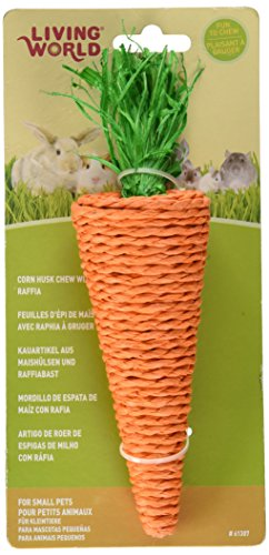 Image of Living World Nibblers Corn Husk Pet Chew, Carrot
