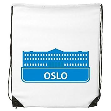 DIYthinker Oslo Norway - Mochila con cordón, diseño de bandera de Noruega, color azul: Amazon.es: Deportes y aire libre
