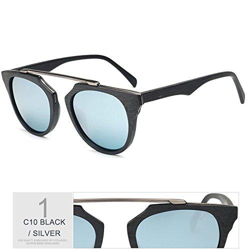 Veta Similares SILVER Azul Madera De Sol La De Unisex Sol Gafas Hombre TIANLIANG04 Polarizadas Gafas De 1wTBxqdnTI