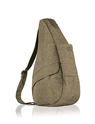 AmeriBag Classic Distressed Nylon Healthy Back Bag tote Medium,Taupe,one size ()