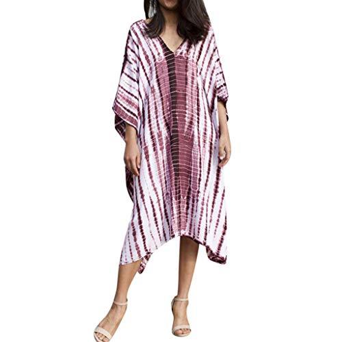 Kaftan Tunic Kimono Dress Ladies Summer Women Evening Maxi Party One Off Shoulder Tie Dye Caftan Plus Size Purple