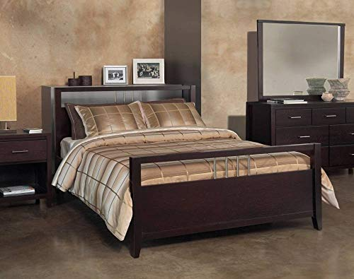 Modus Furniture NV23S6 Nevis Platform Storage Bed, California King, Espresso