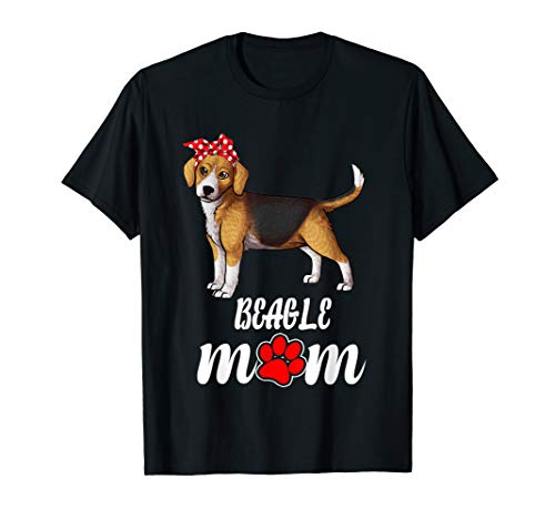 Bandana Beagle Dog Mom Women T -
