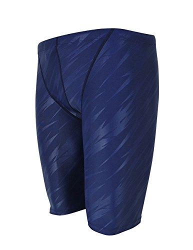 Srnfean Men`s Swimming Jammers Endurance+ Quick Dry Swimsuit Blue Stripe Medium (Costumes Endurance Swimming)