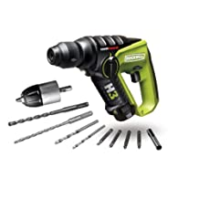 Rockwell RK2513K2 LithiumTech H3 3-in-1 Rotary Hammer SDS Drill with Two Batteries, 12-Volt