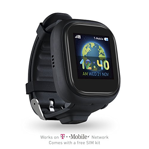 TickTalk 2.0 Touch Screen Kids Smart Watch, Easter Basket Stuffer, GPS Phone Watch, with New App, Top Rated Positioning Chip, Things To Do Reminder, Phone/Messaging (SIM CARD INCLUDED)(Black) (Icon Sim Card)