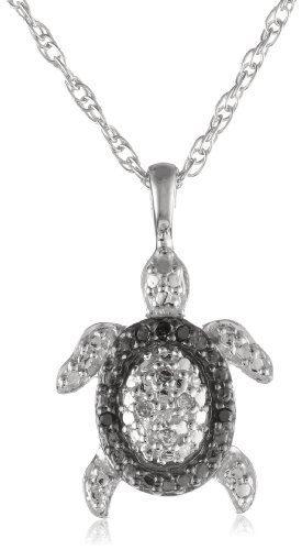 sterling-silver-diamond-black-and-white-turtle-pendant-necklace
