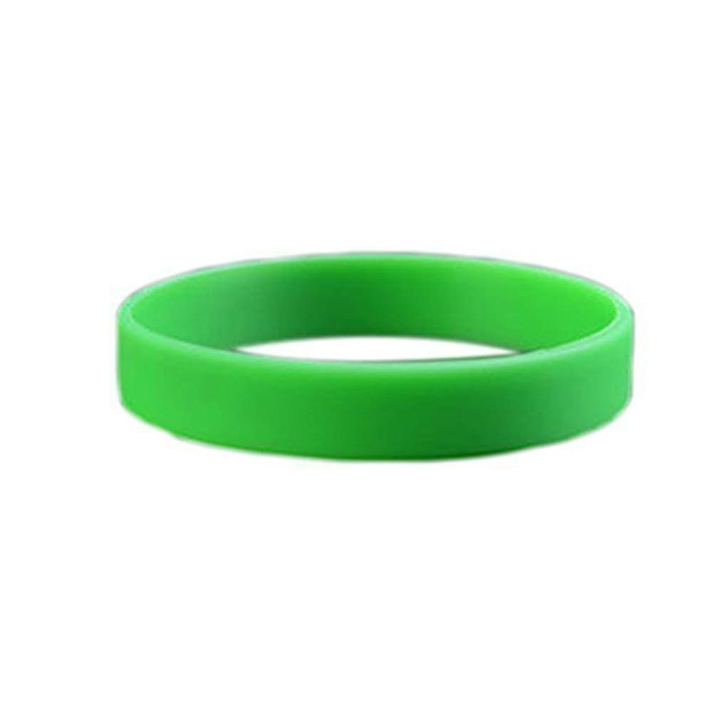 Unisex Sport Wrist Band Fashion Silicone Rubber Elasticity Wristband Wrist Band Cuff Bracelet Bangle Green Ebeauty Adjustable