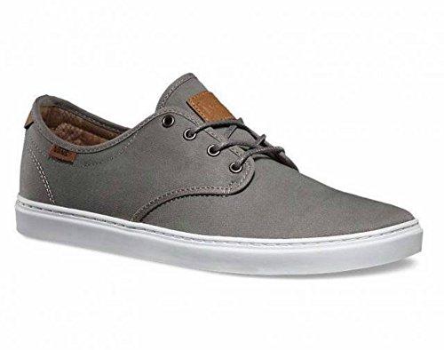 Vans Ludlow Mens Taglia 7 T & L Sneakers In Nichel Spazzolato Bianco Grigio Moda Scarpe Da Skateboard
