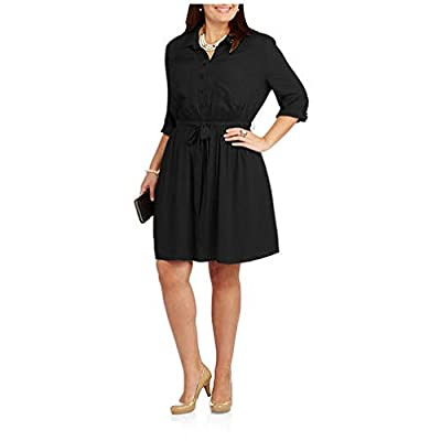 Faded Glory Women's Plus-Size Shirt Dress w/ Tie Front