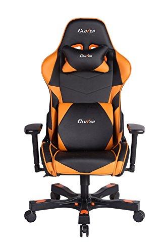 Crank Series Charlie Gaming Chair (Orange) Clutch Chairz