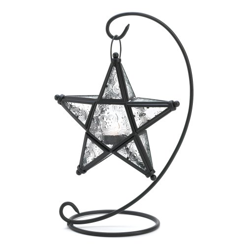 Gifts & Decor Tabletop Starlight Standing Candleholder Lantern Lamp (Star Stand Candle)