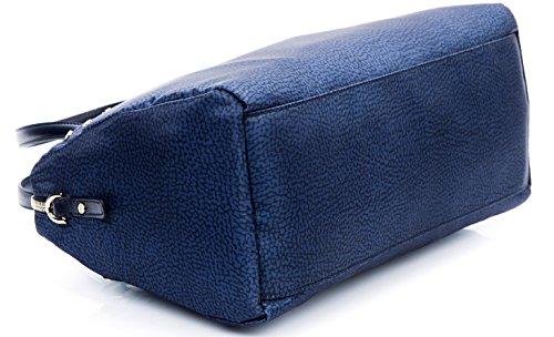 Borsa spalla tracolla donna Bauletto Bag Borbonese jet op pelle Rossa