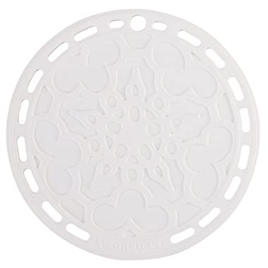 Le Creuset Silicone 8  Round French Trivet, White