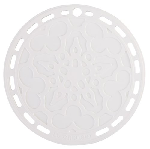 "Le Creuset Silicone 8"" Round French Trivet, White"
