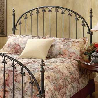 Kirkwell Metal Bed - Hillsdale Furniture 1038HFQR Kirkwell Headboard with Rails, Full/Queen, Brushed Bronze