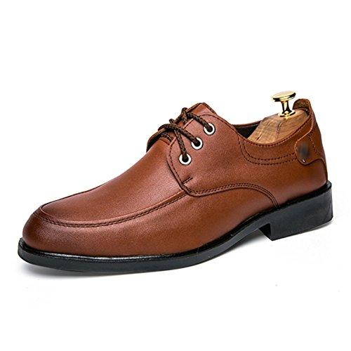 Jeunes Cuir LYZGF En Dentelle Loisirs Chaussures Hommes Mode Respirant Brown Affaires U5PTw