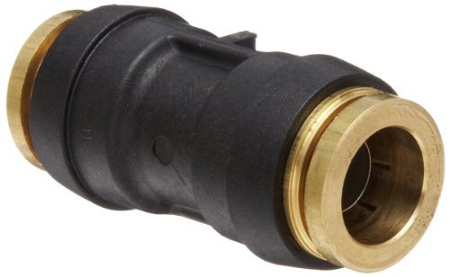 Legris 3106 62 00DOT Nylon & Nickel-Plated Brass Push-To-Connect Fitting, Complies with DOT, Inline Union, 1/2