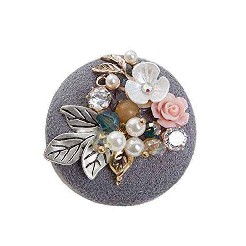 - Cupcinu Corsage Beaded Shell Flower Brooch Corsage Clothing Pin Size: 4cm Material: Alloy