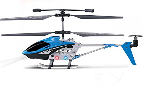 "Haktoys HAK303 Infrared Control 3.5 Channel 9"" RC Helicopter with Gyroscope Stabilization & LED Lights – Colors May Vary 