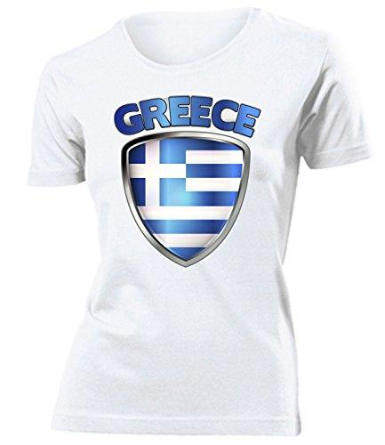 coppa del Mondo - Campionati Europei GRIECHENLAND mujer camiseta Tamaño S to XXL varios colores Blanco