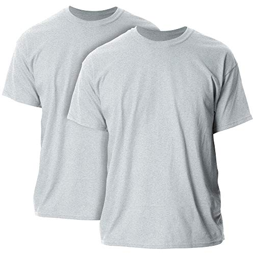 Gildan Men's Heavy Cotton Adult T-Shirt, 2-Pack, Sport Grey, 2X-Large