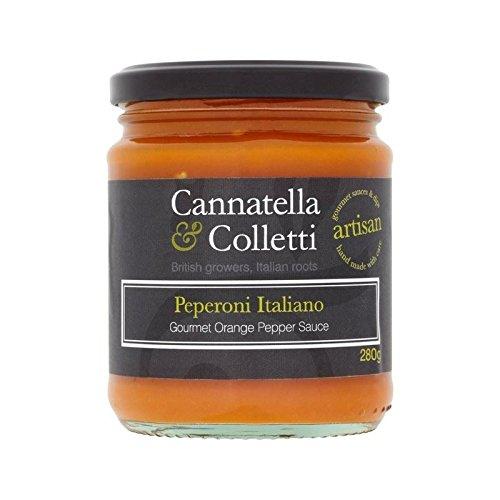 Cannatella Y Colletti Naranja Dulce 280G Salsa De Pimienta - Paquete de 4