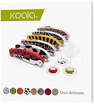 Koala Internacional Hosteleria Set sacacorchos e identificadores de Copas, Blanco