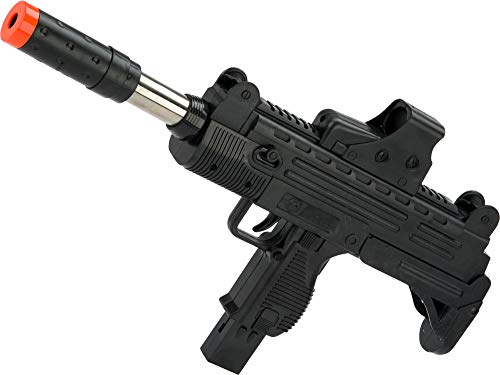 Evike JG Polymer Single Shot Airsoft Spring Gun Armory Series (Model: Pump-Action Uzi Machine Pistol with Front-End Device)