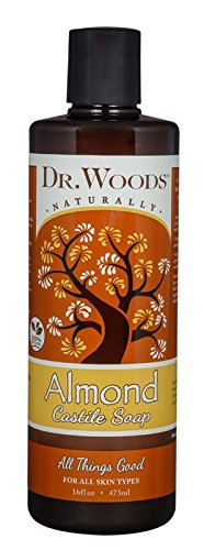 Dr. Woods Pure Castile Soap - Almond - 16 (Dr Woods Pure Almond Castile Soap)