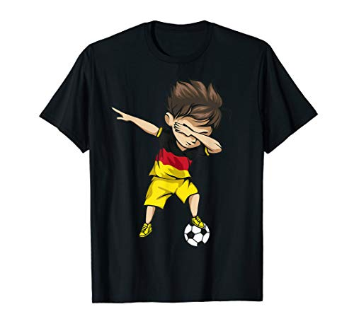 Dabbing Soccer Boy Germany Jersey Shirt - German Football