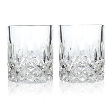 Admiral Crystal Tumblers by Viski – (2 tumblers, 9 oz. each)