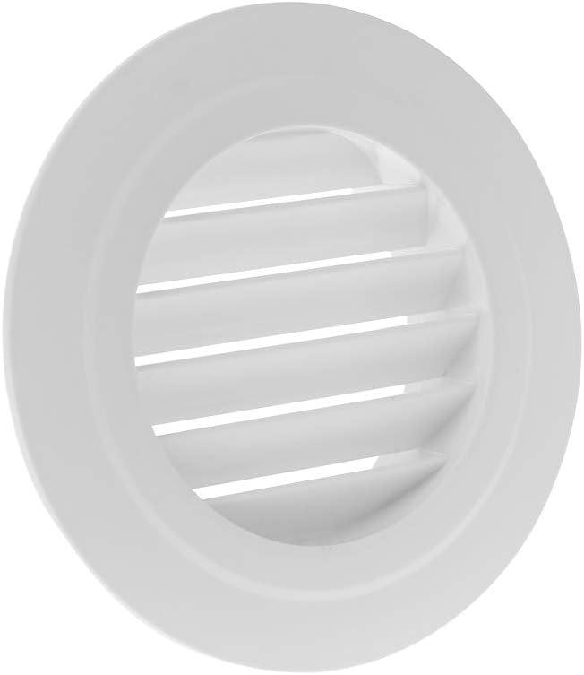 JOYKK Entl/üftungs-Auslassventilgitter Runder Diffusor Luftf/ührung Bel/üftungsabdeckung 100mm D # Schr/äge Luftklappe